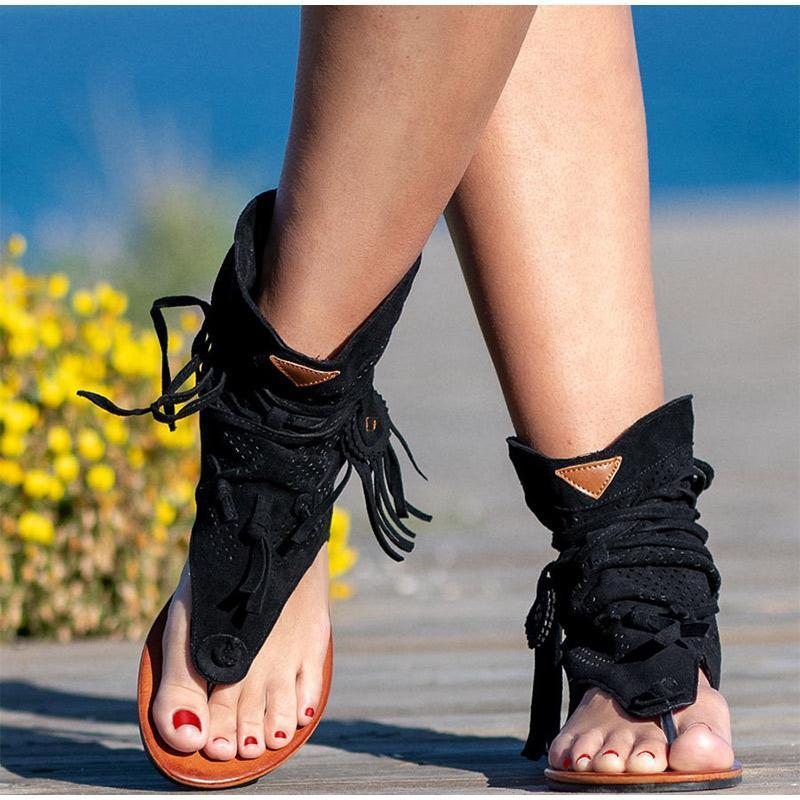 الصنادل الرجعية المرأة 2021 المصارع السيدات كليب تو خمر الأحذية عارضة شرابة روما الأزياء الصيف المرأة الأحذية الإناث