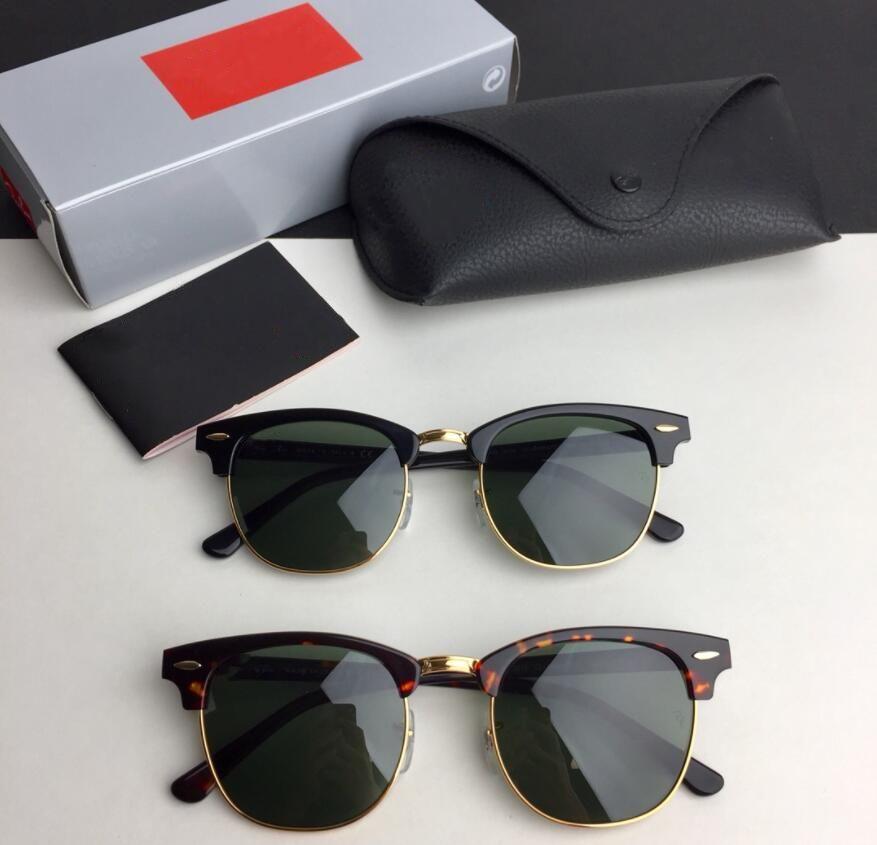 2021 럭셔리 새로운 브랜드 편광 된 태양 안경 남성 여성 파일럿 선글라스 UV400 안경 안경 금속 프레임 폴라로이드 렌즈 상자 케이스 51-21-135