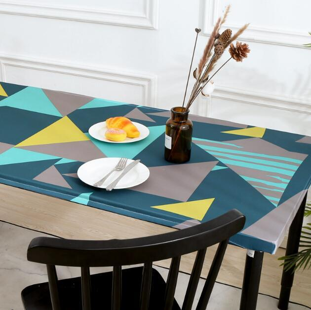 Elastic table cloth Printed tablecloth stretch Dust cover For dining room home decor Indoor and outdoor picnic