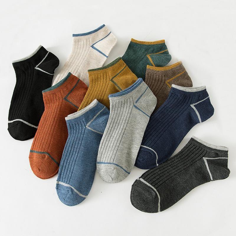 Männer Socken 5 Paar Asakuchi Kurzer Sommer Atmungsaktive Mens Street Wear Brand Sport Comfort Streifen Cool Harajuku Chausehette Homme