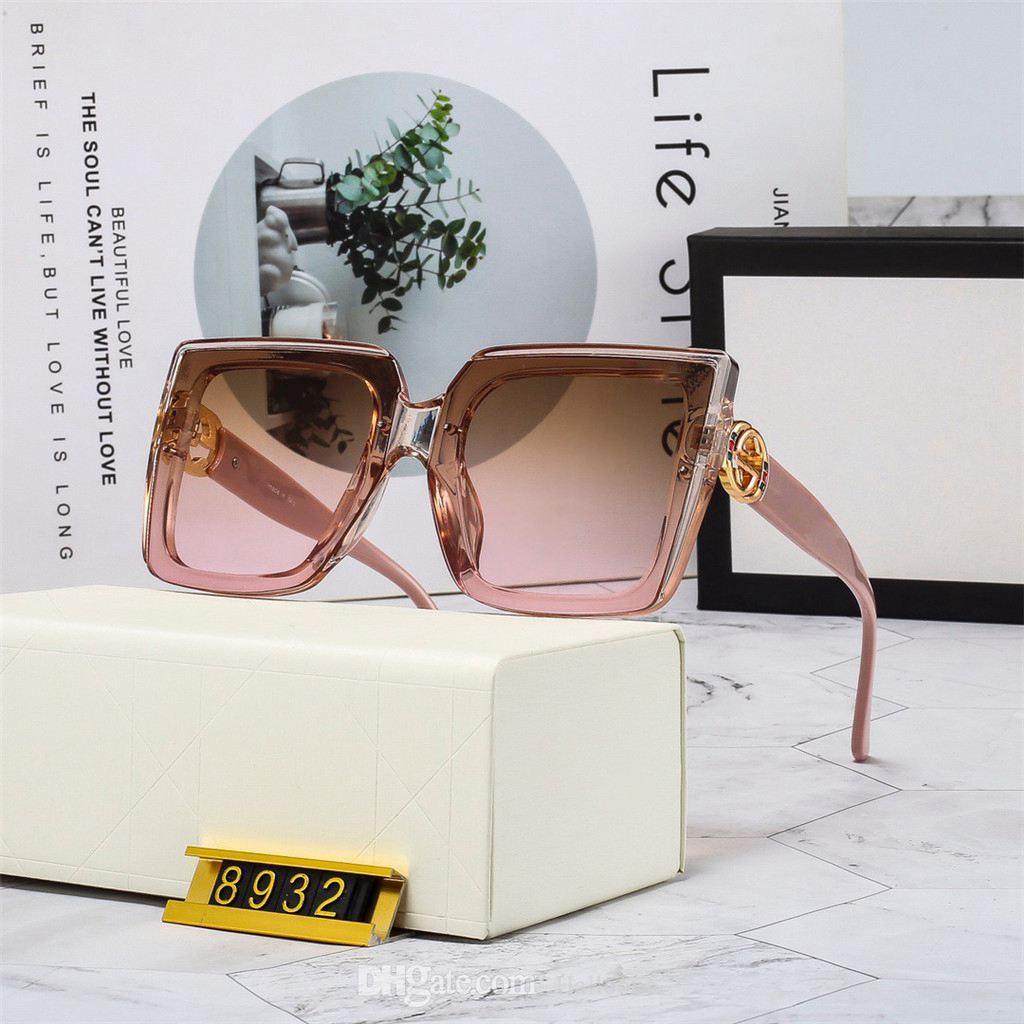Design de moda polarizado 2021 Óculos de sol de luxo para homens mulheres piloto sol óculos uv400 óculos moldura de metal polaroid lente 8932 com bo