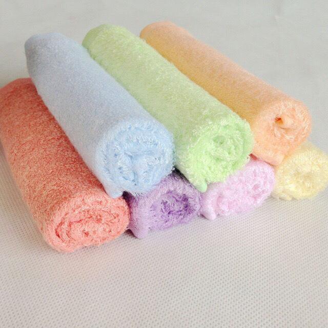 Mengzong puro bebê bambu de fibra toalha pequena toalha quadrada, tecido macio e amigável