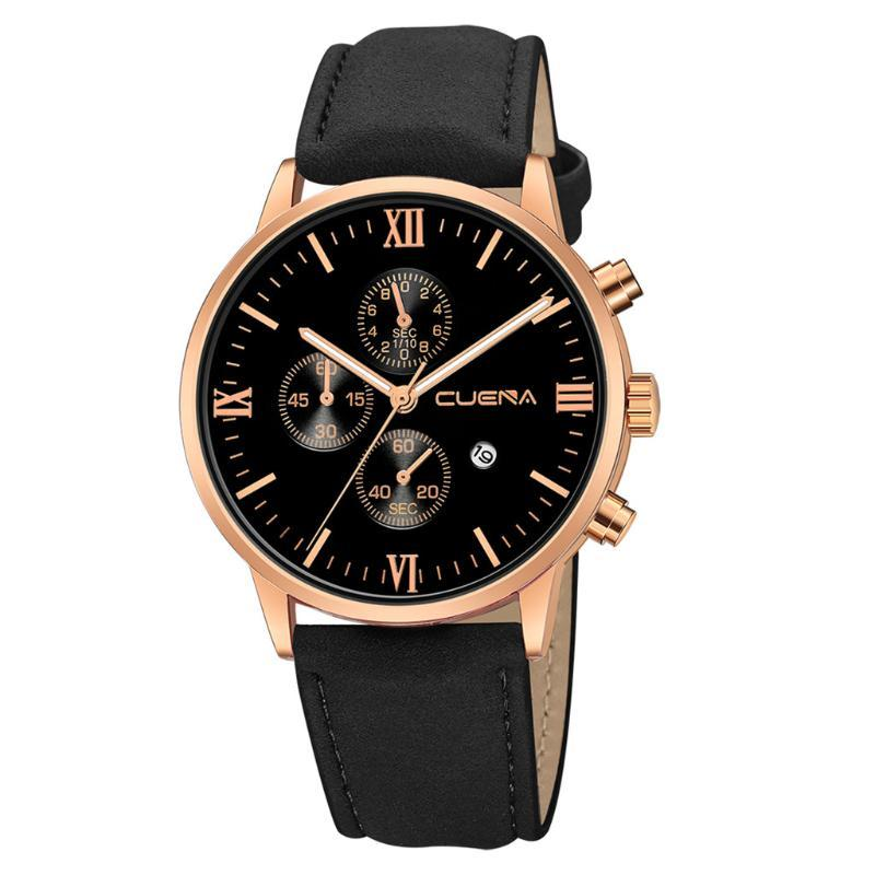 Relógios de pulso de luxo luxo pulseira de couro genuíno relógio para mulheres homens dual tempo masculino relógio saats casual mens relógio de pulso relogio masculino