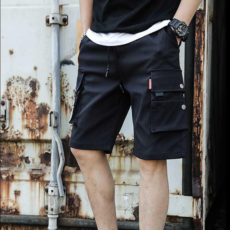 Pantalones cortos de verano pantalones pantalones vaqueros trabajando ropa capris moda coreana moda casual suelto estudiante medio pantalones ab