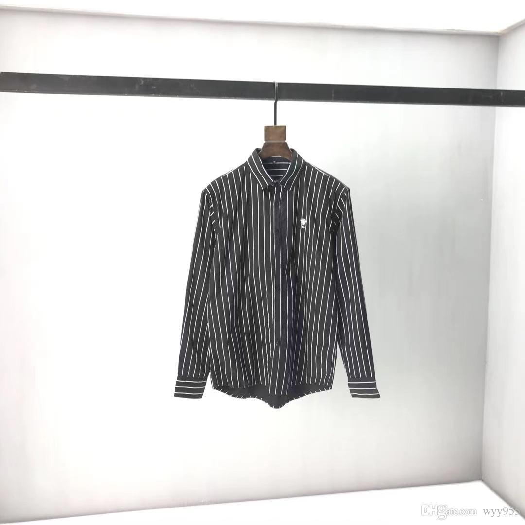 ЕС размер мужская футболка, толстовка повседневная мода цветная полоса принт высококачественный дикий дышащий W12