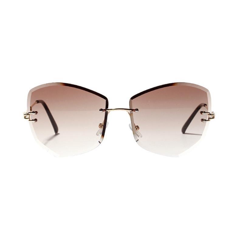 Gafas de sol Retro Mujeres Cuadradas Cuadradas Designer de la marca de moda gradiente de moda Polygon Sun Glasses 21s