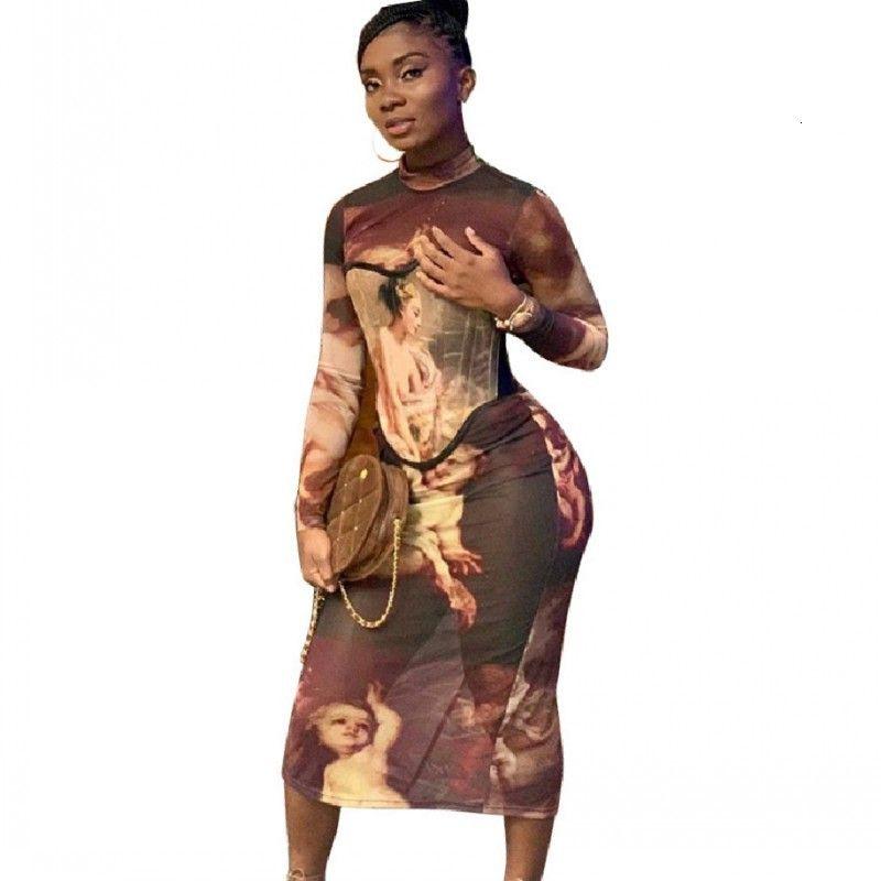 Тонкая женская с рукавами Полный рукав Brace карандаш платье весна мода впечатление элегантной старинной улицы платья X3FW