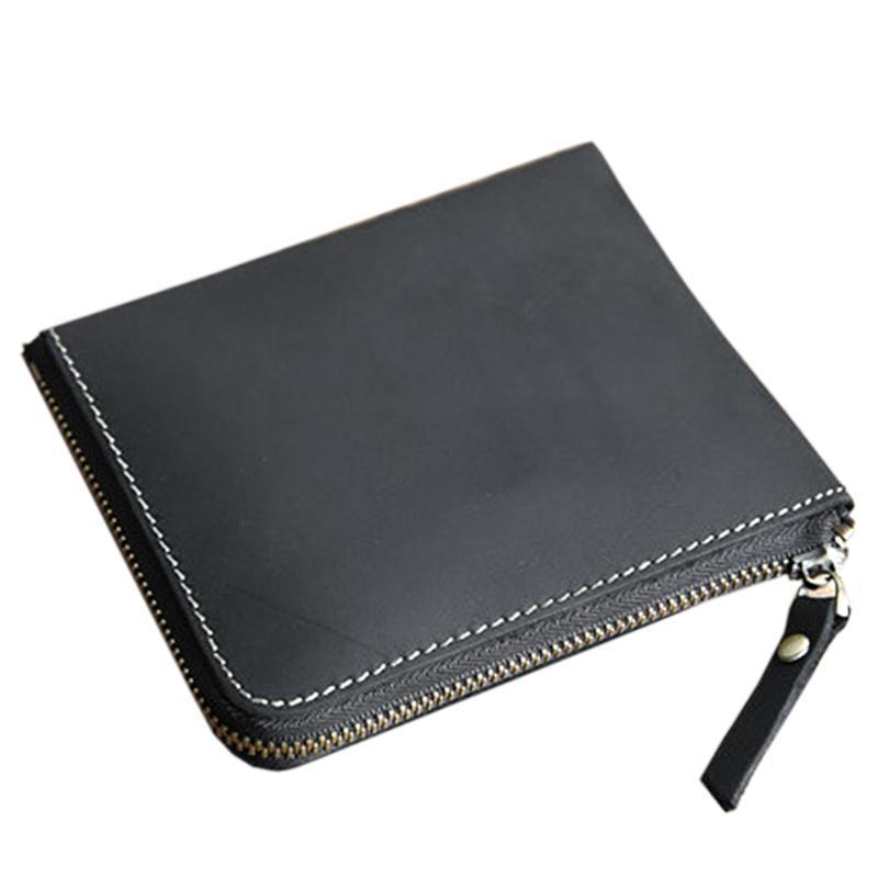 Mini mode porte-bourse porte-monnaie Poche de poche de pièces de poche autour de l'argent vintage professionnel pratique hommes portefeuille cadeau cuir chéri