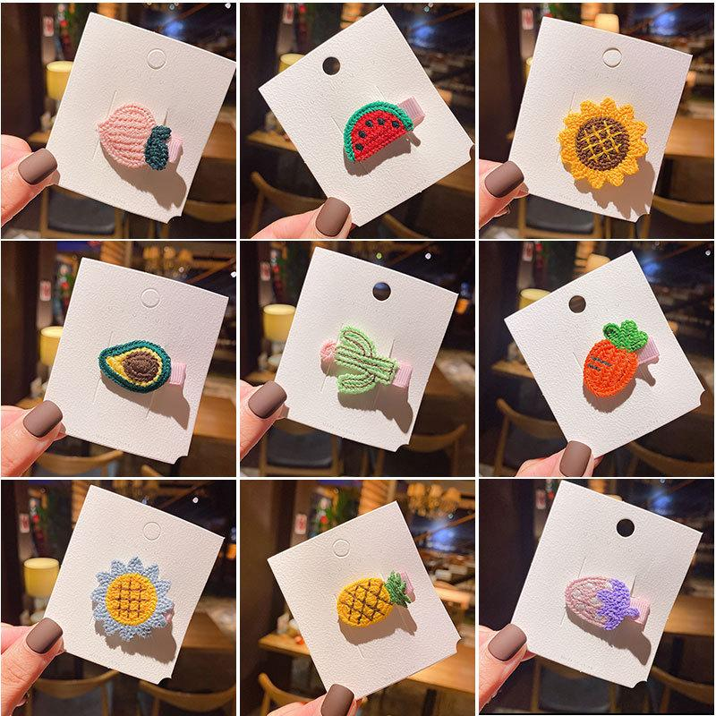 15 Styles Ins Cute Girl Hair Accessory Barrettes All Different Fruit Decoration Accessories kids Jewelry Birthday Party Gift Clipper