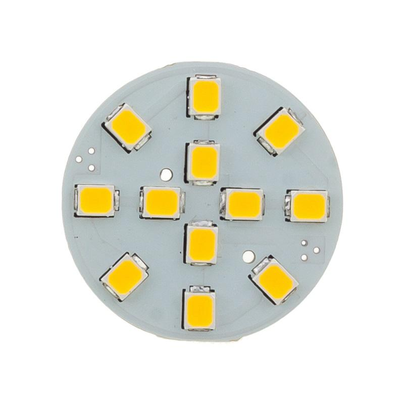 G4 LED Ampuller 12LED 2835SMD Arka Pin Doğal Sıcak Beyaz 12 V 24 V Dim Dim RV Martin D25mm Cystal Işık Kabine Spot Işık altında