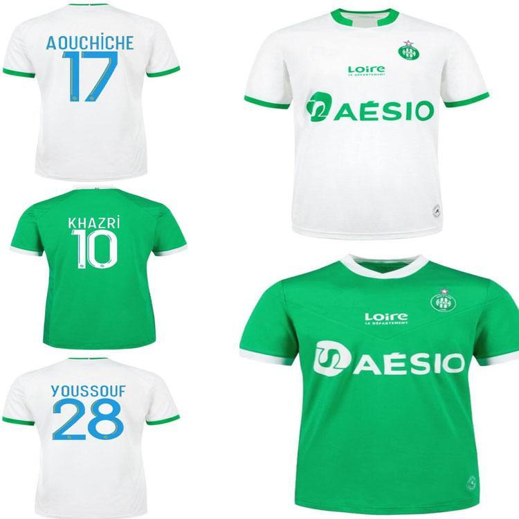 2021 Como santos-etienne futebol jerseys khazri mens maillot 20/21 asse st etienne aholou camisas de futebol adulto
