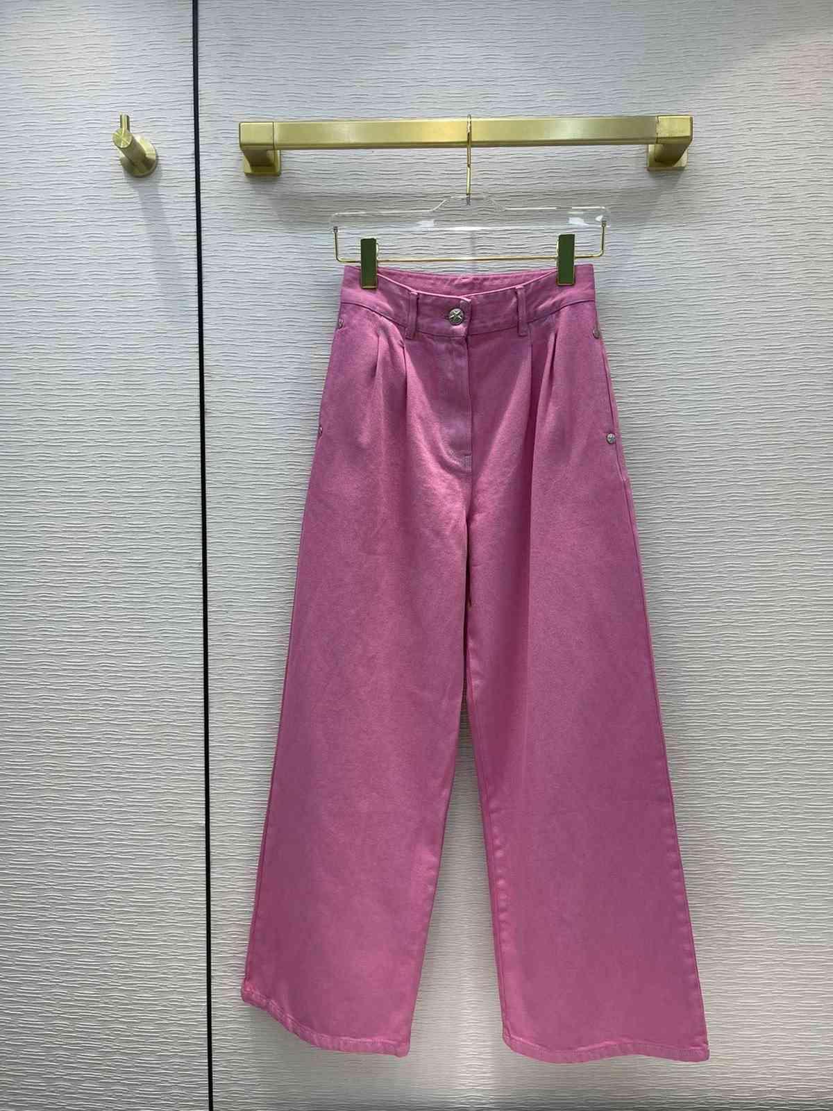 Milan Pist Jeans 2021 Sonbahar Moda Tasarımcısı Geniş Bacak Marka Aynı Stil Lüks Bayan Giyim 0611-2
