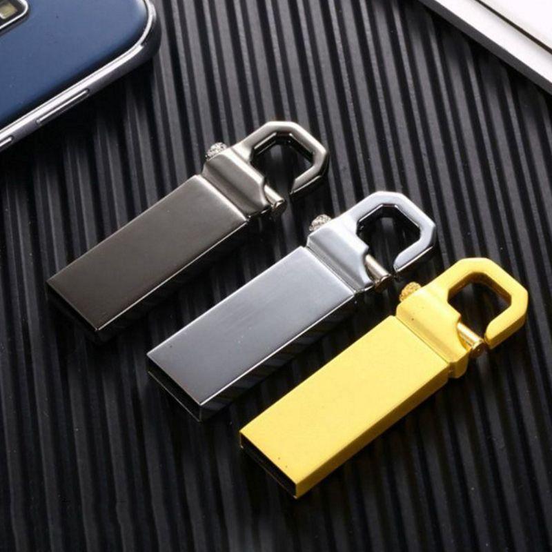 새로운 펜 드라이브 Pendrive 64GB 32GB 16GB 8GB USB 플래시 드라이브 방수 금속 U 디스크 메모 CLE USB 2.0 메모리 스틱