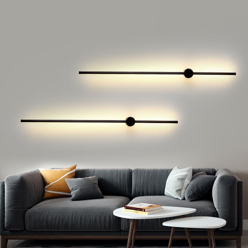 Minimalisme moderne LED Mur de mur lumière Chambre à coucher Décoration Miroir Miroir Lampes murales pour salon Salle à manger Lights DeOC Éclairage