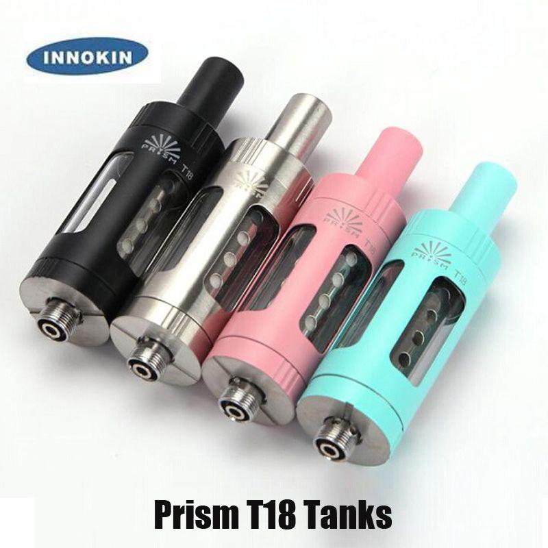 Authentic Innokin Prism T18 T18e Atomizzatore 2.5 / 2ml Piano di riempimento superiore Serbatoio di controllo del flusso d'aria per la scatola del filo 510 Mod 100% Genuine