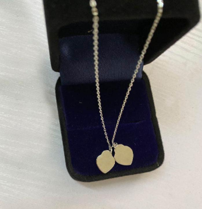 Avere francobolli 925 sterling argento cuore amore collana pendente bijoux per lady design womens party wedding engagement gioielli per la sposa