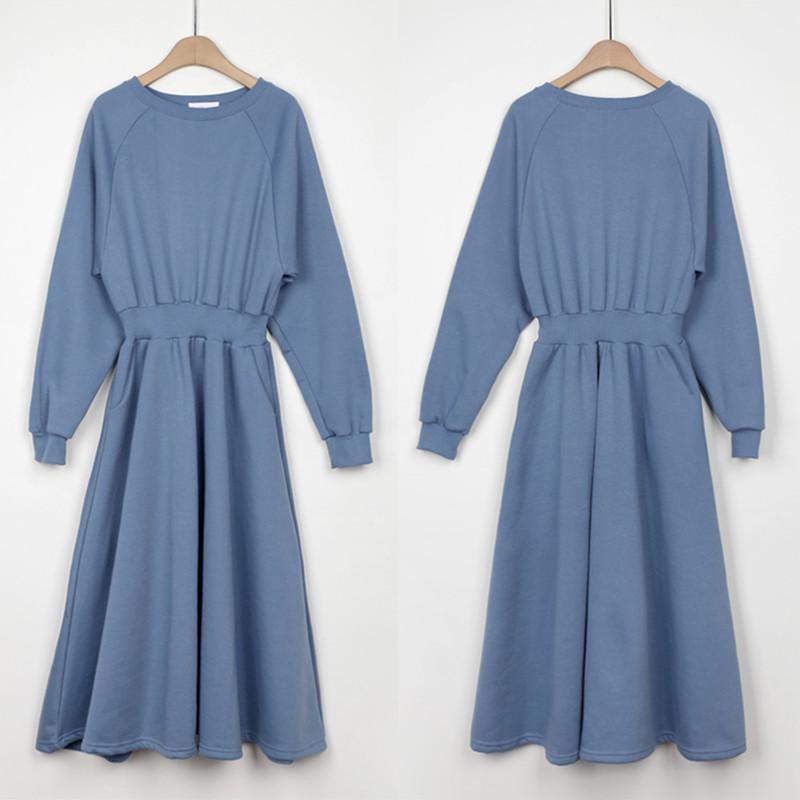 Элегантные модные женские толстовки платье полного рукава женское повседневное уплотнительное платье осень осень зима бархата середина свободных Vestidos DS200