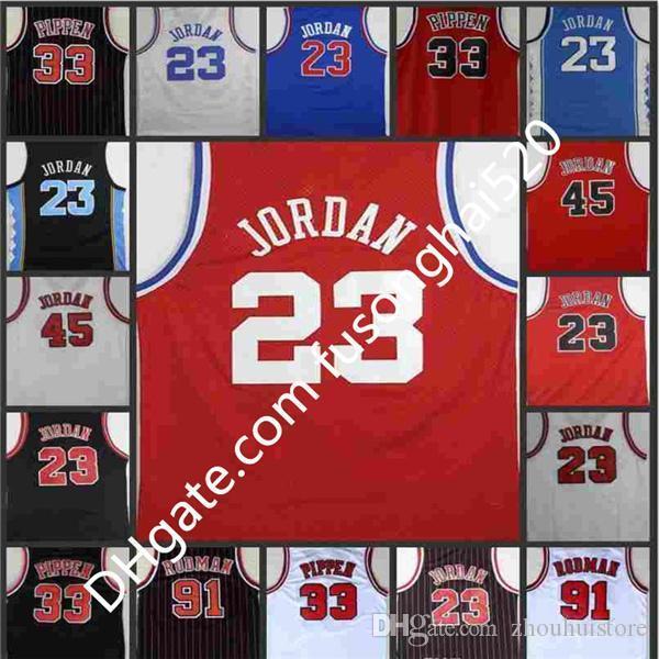 1992 1996 1998 Vintage Men's # 23 45 Michael Shirts 33 Scottie Pippen 91 Dennis Rodman North Carolina College Steins Basketball Jersey