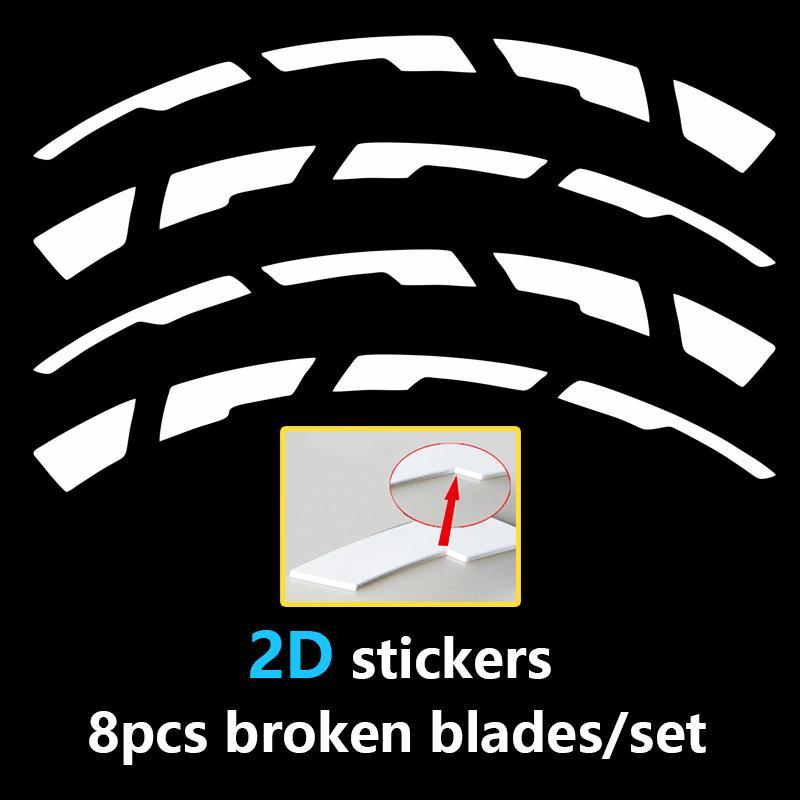 Skyeo 7 색 1 인치 자동차 타이어 깨진 줄무늬 스티커 2D PVC 타이어 레터 오토바이 자동차 방수 데칼 스티커