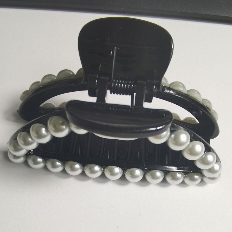 189 SAMCC Mode Hair Accessoires Black Hairclips 8 * 4,2 cm Pearl Acrylgriff Haarnadeln für Damen Geschenk 2pcs / lot