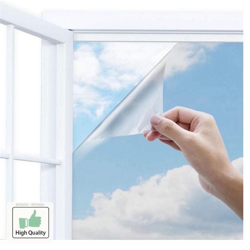 40/50/60/70/80/90x500 Cm One Way Mirror Film,Vinyl Self-adhesive Reflective Solar film Privacy Window Tint for Home Y200421