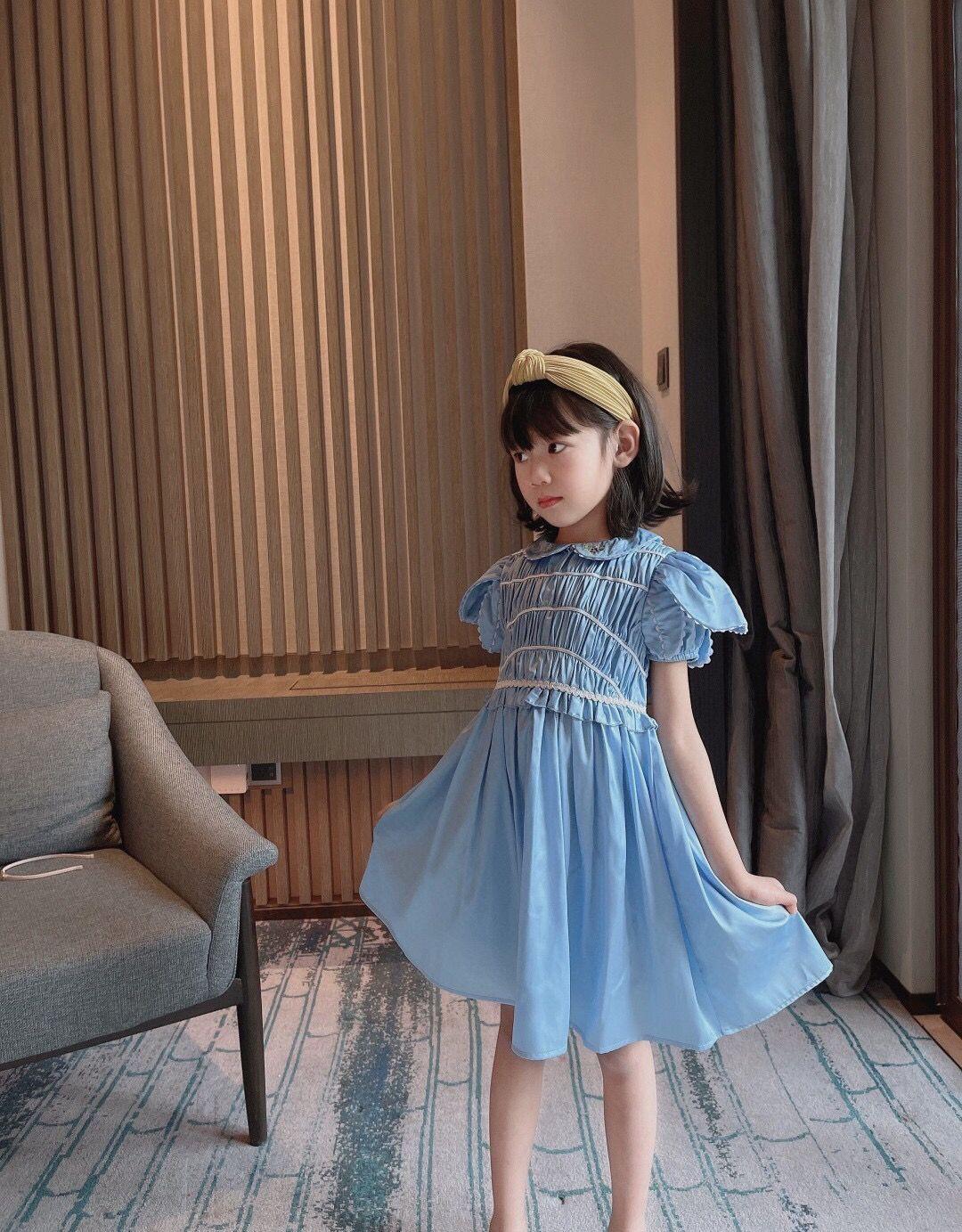 free shipping Kids Girls Dress Summer Children Baby Girl Princess Dresses Sweet Girls short sleeve clothing tops