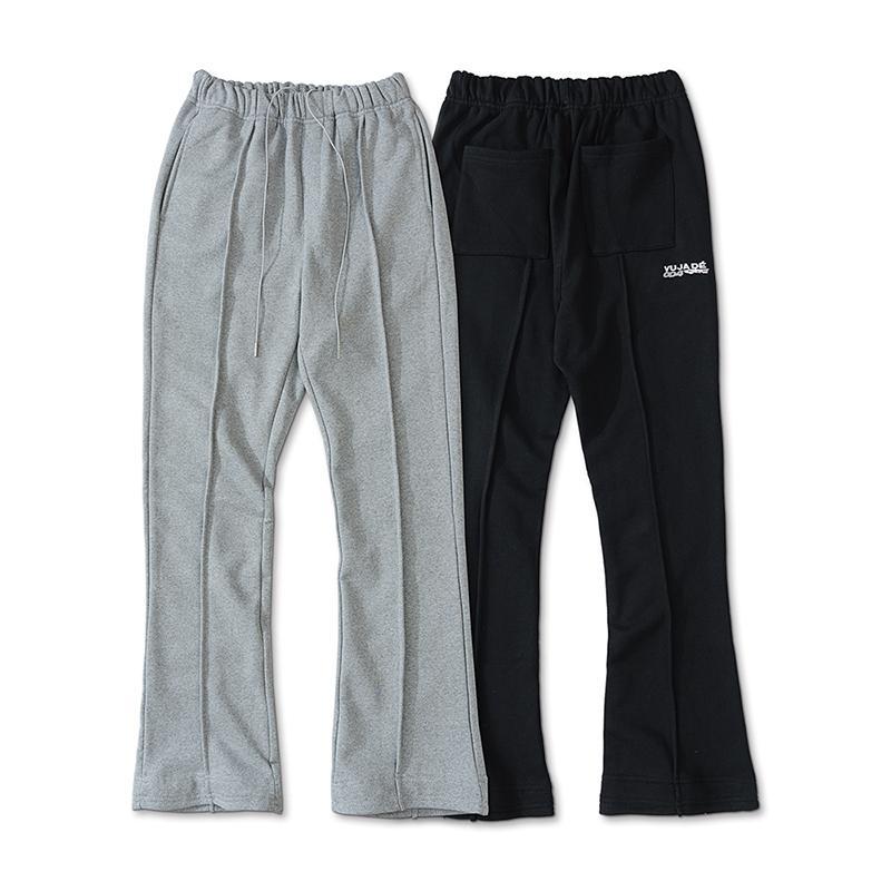 USA Pantalon de poche Casual Sweatpants Hommes Femmes High Street Skinny Slim Fit Broderie Terry Tissus Droits Jogger Pantalon
