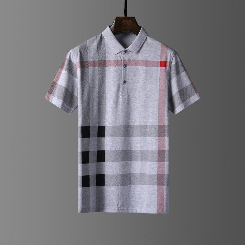 Yaz Üst Casual Mans T Gömlek Erkek Polos Nakış Nefes 100% Pamuk Rahat Adam Gömlek Toptan Boyutu M-XXXL