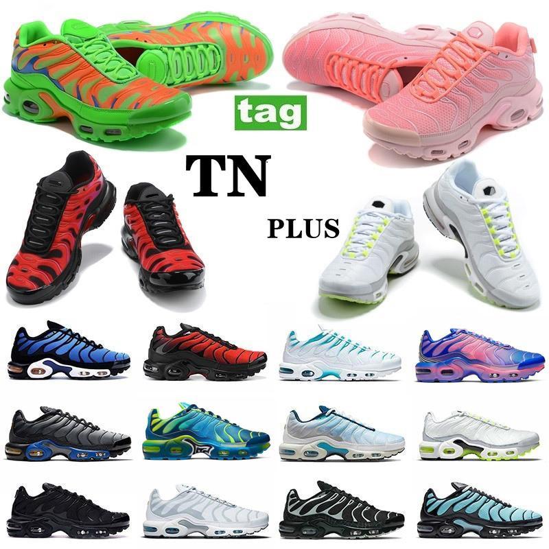 Plus TN Laufschuhe Herren Womens TNS SE Triple Black Alle Weiß Rosa Blau Rot Grün Trainer Outdoor Sports Turnschuhe EUR 36-46