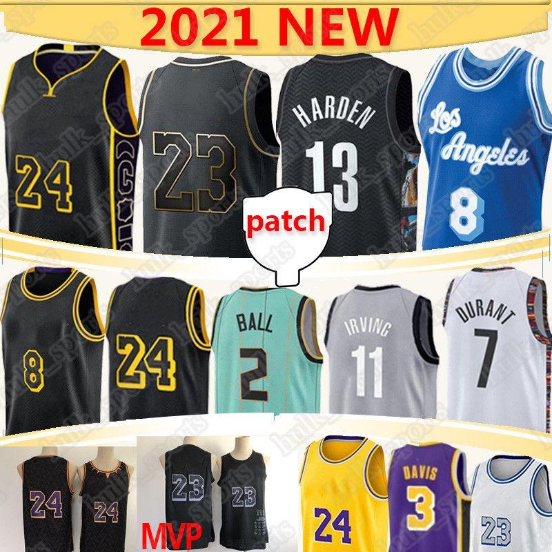 Nba Basketball Jerseys Jersey nba basketball jerseys jersey 2 Lamelo Ball Los 23 Angeles 7 Durant كرة السلة الفانيلة MVP 11 Irving 13 Harden 3 Davis 2021 كرة السلة جيرسي