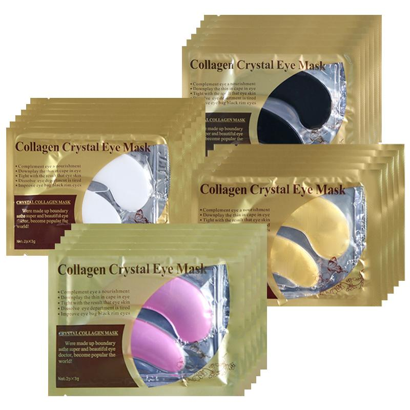 Collagen Eye Mask Gel Patches Under the Eyes Care Relief Fatigue Puffiness Circles Dark Anti Wrinkle Moisturizer Face Sheet