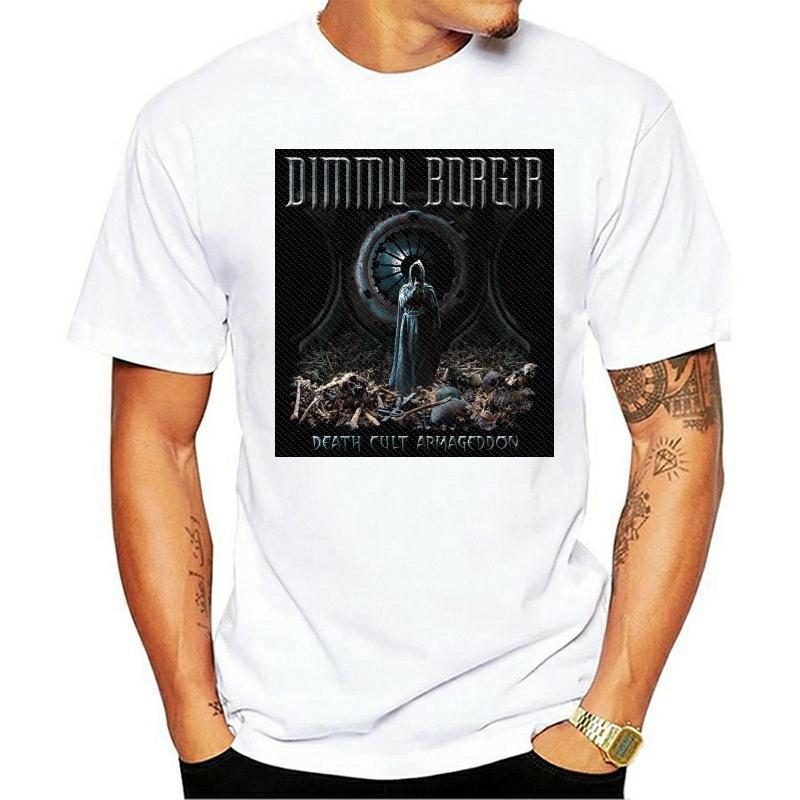 T-shirt da uomo Do Armageddon Culto da Morte de Dimmu Borgir S-3XL Preto Metallo Officl Das Mulheres Dos Homens Unissex Moda 2021 T-shirt