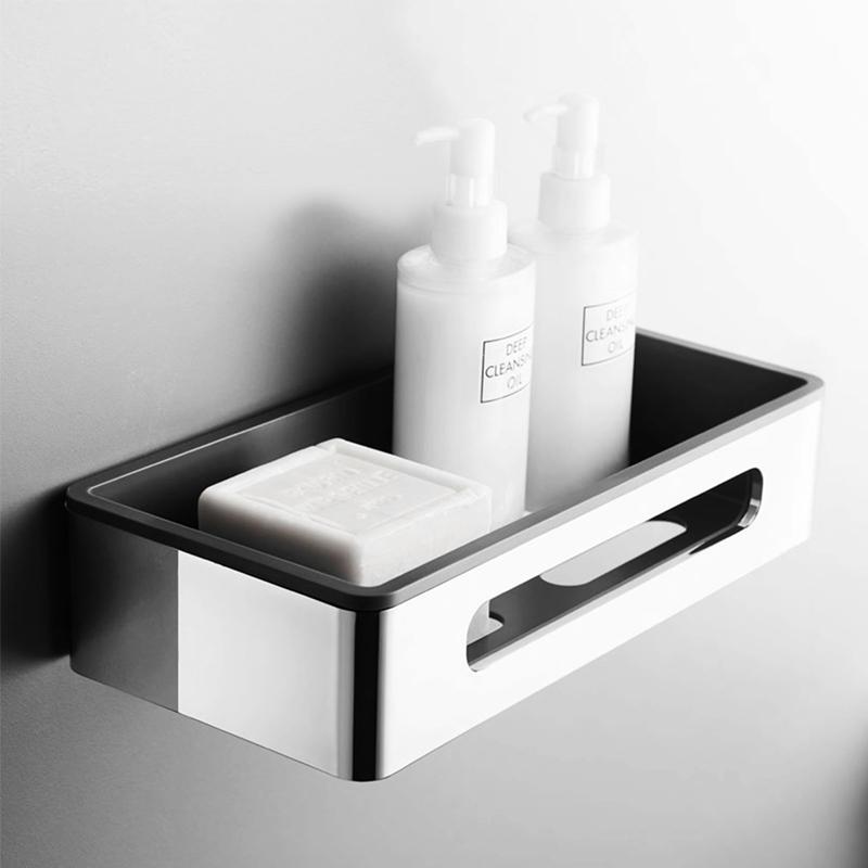 Bathroom Accessories Shower triangle shelf Kitchen Storage Corner Shelves Plastic Basket ABS chrome Wall Mount with Screws