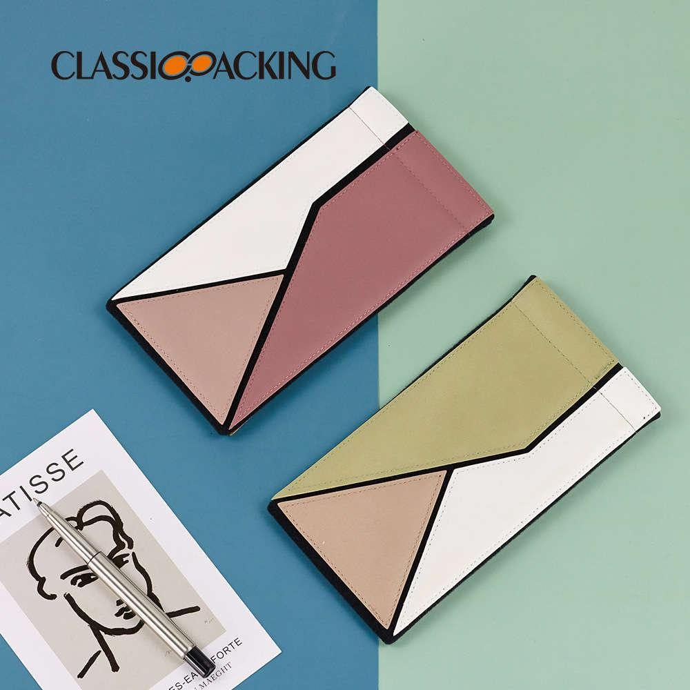 Creative personality color matching dustproof and fall proof jewelry storage sunglasses automatic closure elastic glasses bag