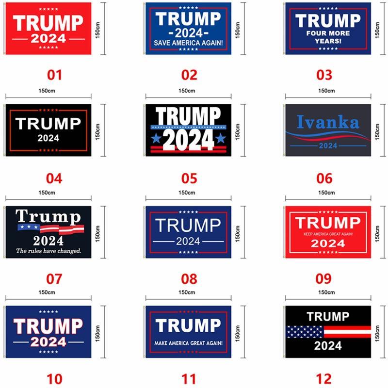 Флаг Трампа 2024 Избирательный флаг Баннер Дональд Трамп Флаг Храните Америку Большой Снова Иванка Трамп Флаги 150 * 90см 12 стилей EACTA1277