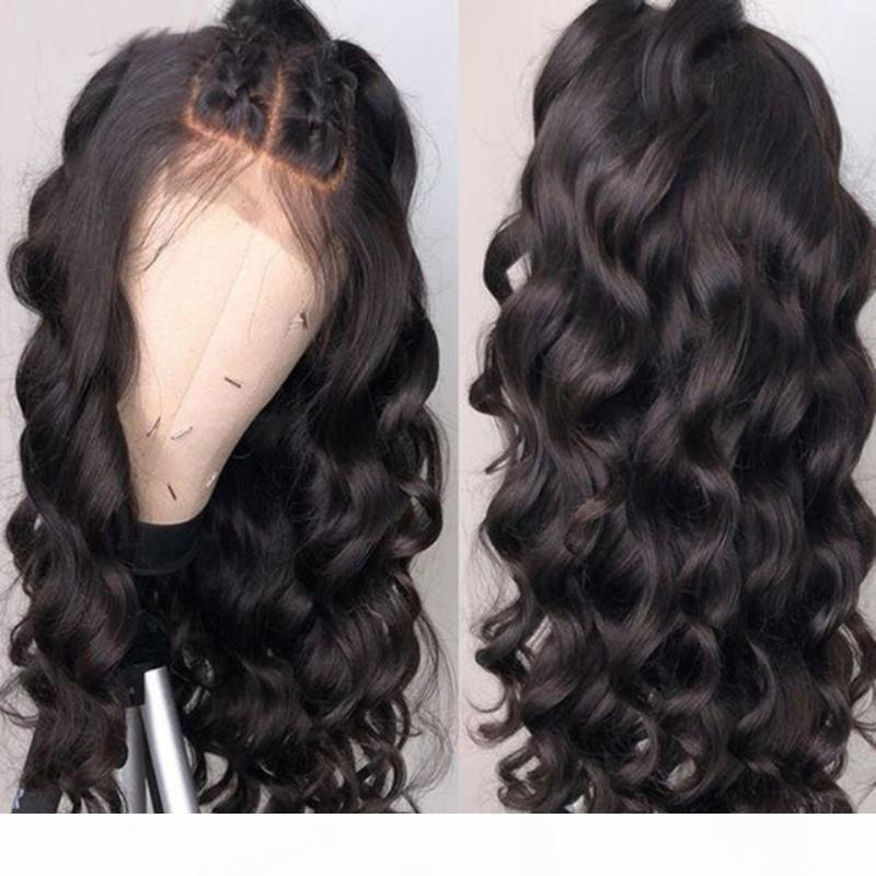 360 peluca de encaje blanqueado nudos ola ola sin glanas virgen brasileño barato reactivo pre arrollado 360 frontal encaje lleno de pelucas humanas para mujeres