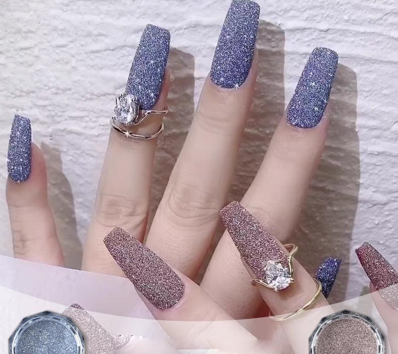 Веб-знаменитость Новые Ювелирные Изделия Ногтей Кристалл Алмазный порошок блеск Изящное Прекрасное Порошок Ногтей Паста Ювелирные Изделия DIY Инструменты