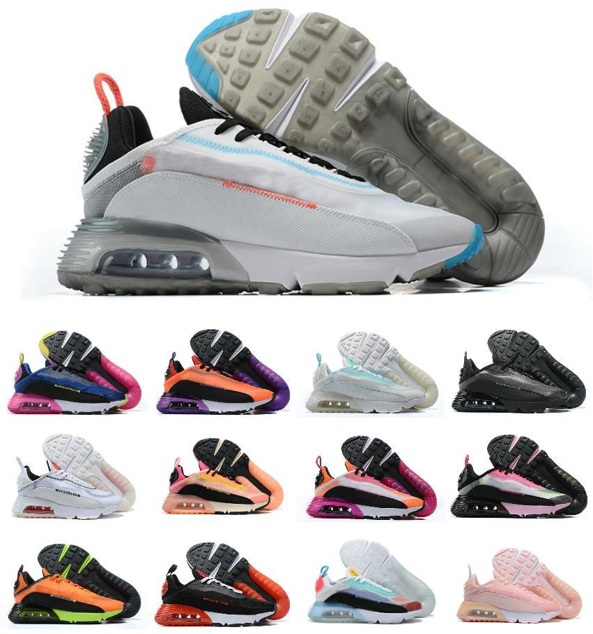 ذكر أنثى 2090 الاحذية الثلاثي الأسود جودة عالية 2090s مصمم الهواء أحذية رياضية الكلاسيكية عارضة المدربين حجم 36-46 للرجل امرأة