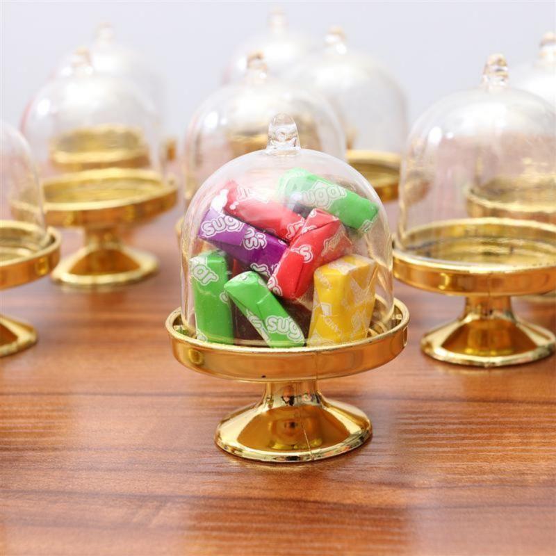 12pcs Creative Transparent Plastic Mariage Boîte à bonbons Box Snack