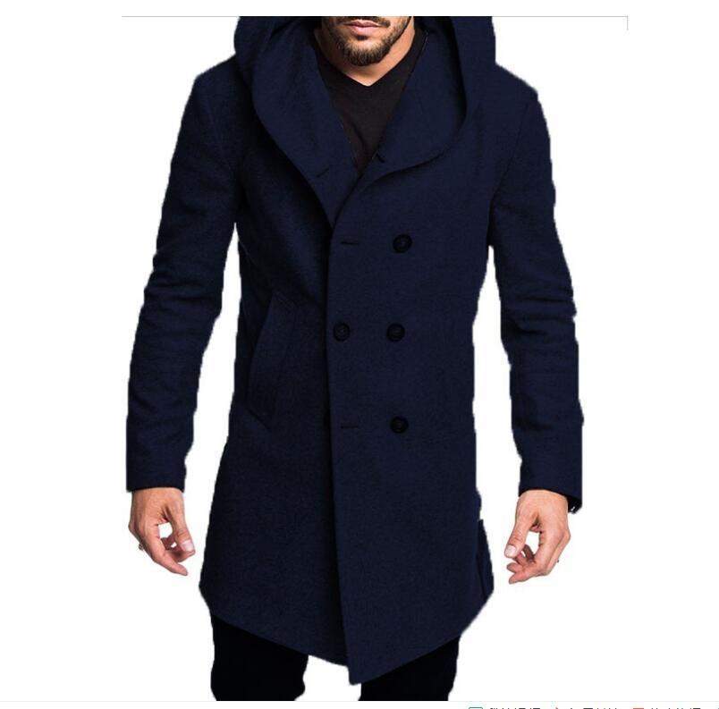 망 긴 트렌치 코튼 코튼 자켓 정식 캐주얼 가을과 겨울 모델 5 색상 패션 S-3XL
