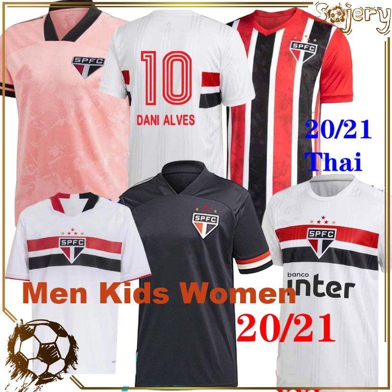 21 22 Sao Paulo Soccer Jerseys Camisa de Futebol FC Outubro Rosa 70. BRENNER PATO Pablo Dani Alves Männer Frauen Kinder Fußballhemden