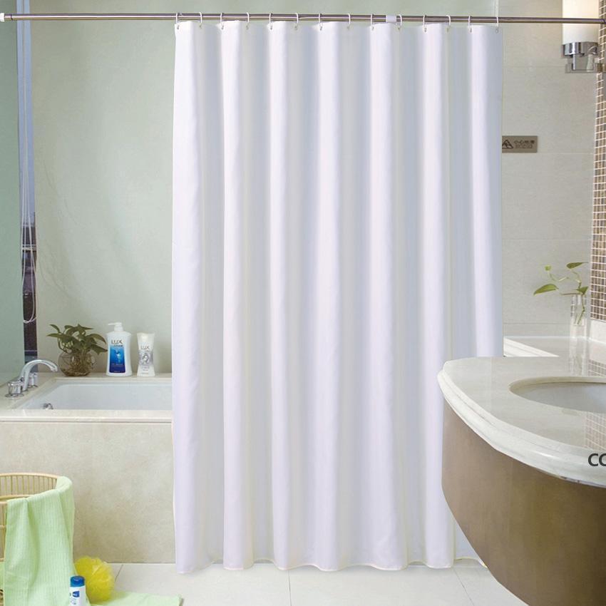 Пользовательские занавески для душевых завесов Hotel Bottes Водонепроницаемая и плесень толстая твердая ванна Большой широкий купальник 12 крючков DHD7315