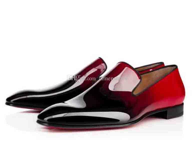 Бренды Красные нижние мокасины роскошные вечеринки свадебные туфли дизайнер черные патентные кожаные замшевые одежды обувь для мужской скольжения на квартирах повседневные оксфорды
