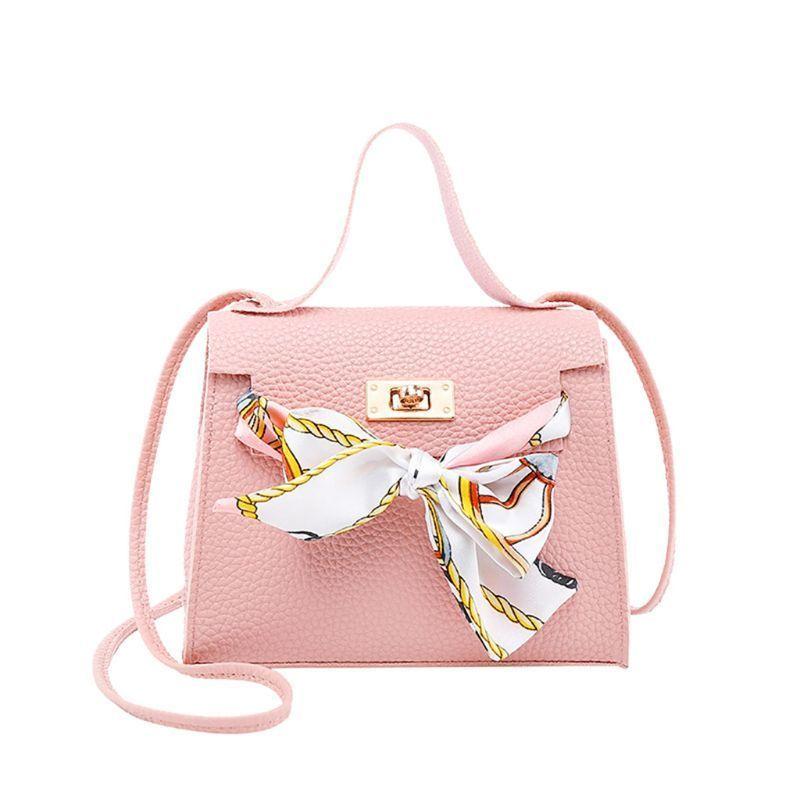 Women PU Leather Handbag Shoulder Lady Crossbody Bag Tote Messenger Satchel Purse with Scarf Decor C0224