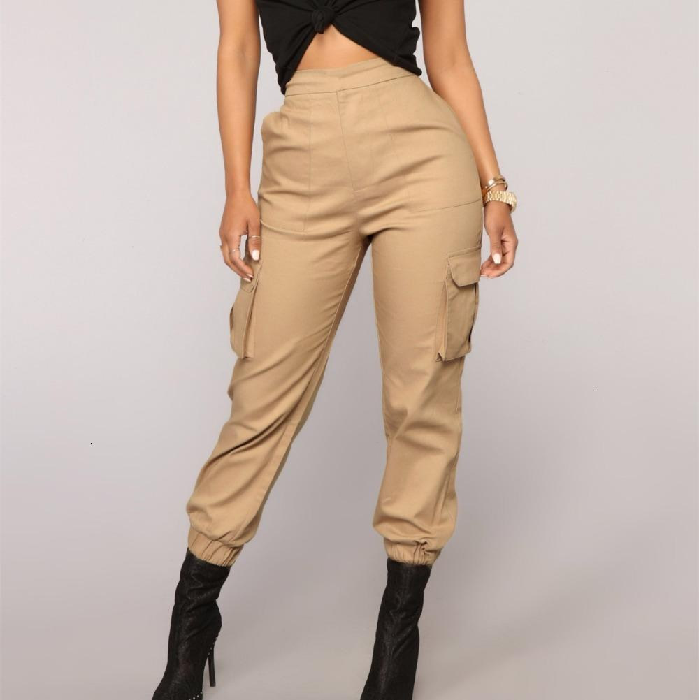 2021 Streetwear New Cargo Women High Trousers Style Female Summer Ankle-length Pants 1 1M4Y