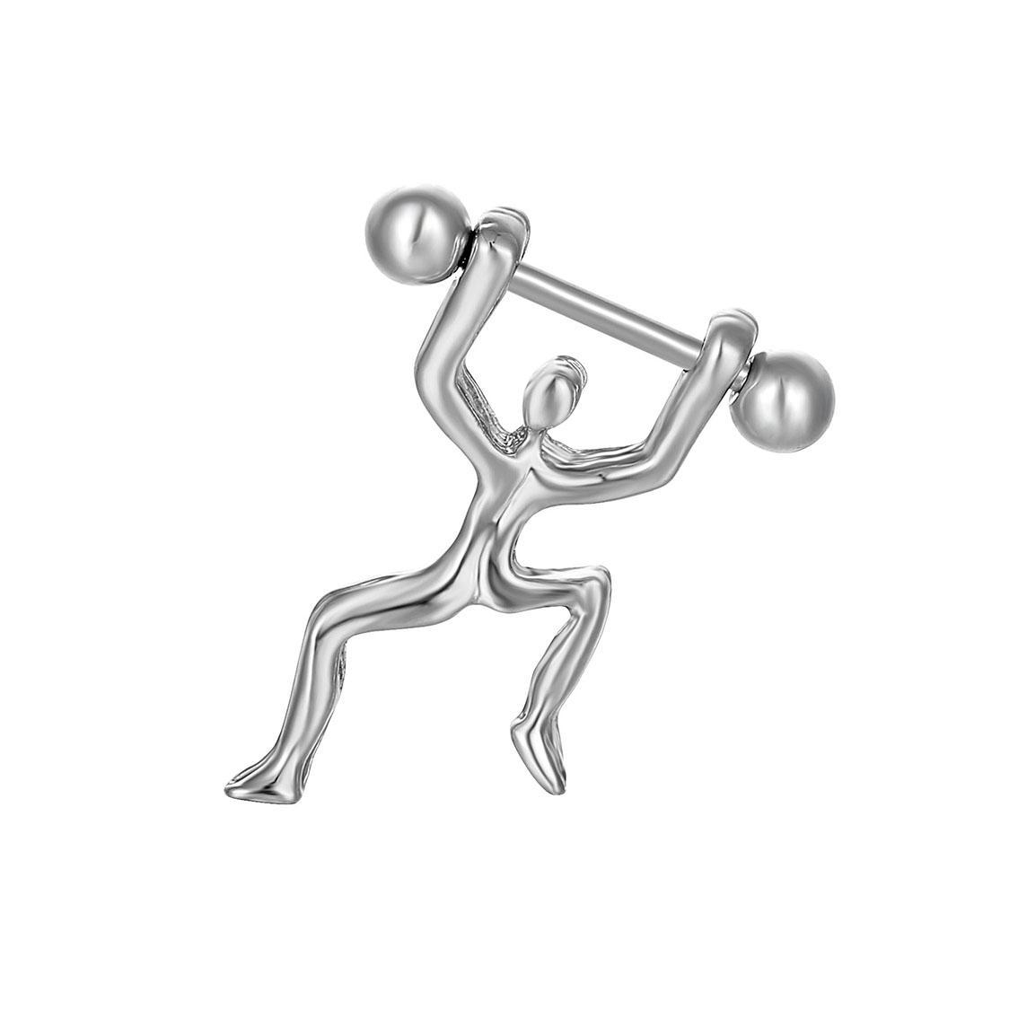 D0167(1色)人スタイルニップルリングベリーボタンボディピアスジュエリーダングルアクセサリーファッションチャーム(10pcs /ロット)JFB-6160