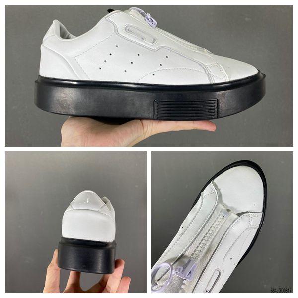 2021 En Kaliteli Bayan Beyaz Rahat Ayakkabılar Moda Şık Süper Sneakers Deri Eğitmenler Süet Gelinlik Bayanlar Kız Platformu Siyah Ayakkabı Boyutu 36-40