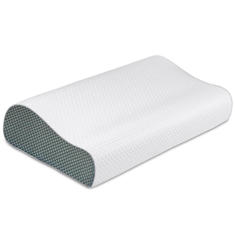 Oreiller mousse mousse lente de rebond literie contence orthopédique col cervical vertèbre soins soft dormir 50 * 30cm