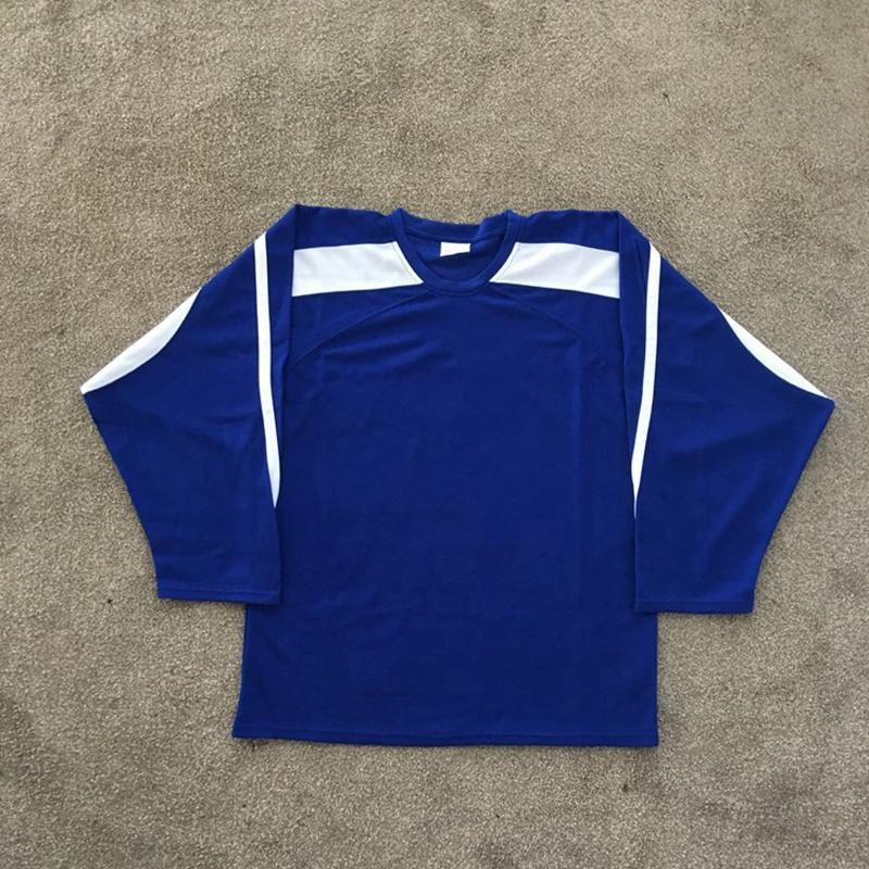 2021 사용자 정의 망 블랙 하키 유니폼 여자 아이 화이트 그린 블루 레드 어떤 이름 번호 스티치 셔츠 S-XXXL B22