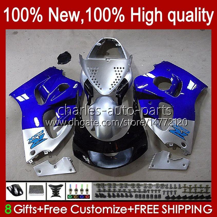Bodywork Kit For SUZUKI SRAD GSXR 600CC 750CC 750 600 CC 96-00 Body 22No.50 GSXR-750 GSXR600 1996 1997 1998 1999 2000 GSXR750 GSX-R600 96 97 98 99 00 Fairing blue silvery